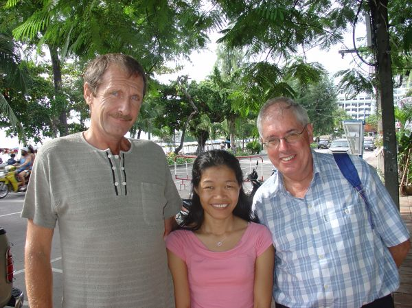 Urs, Arun und Peter in Pattaya...