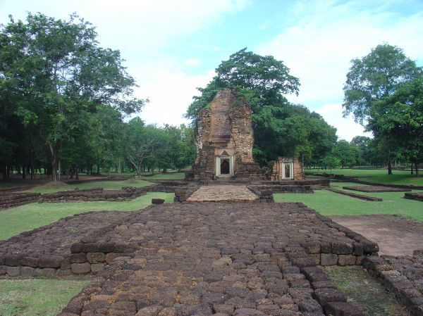 Der Kmer-Tempel in Petchabon...