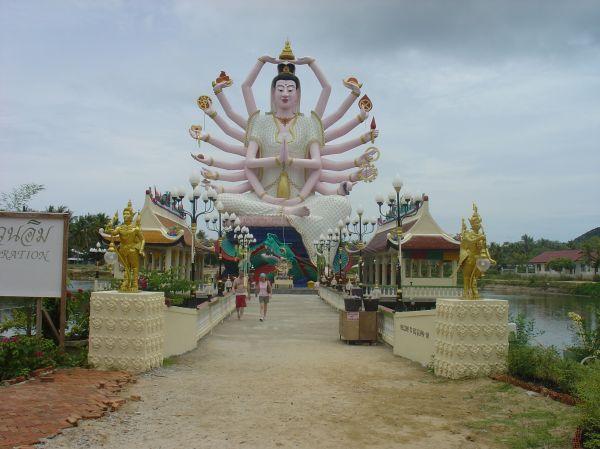 Besuch in einem der vielen Tempel...